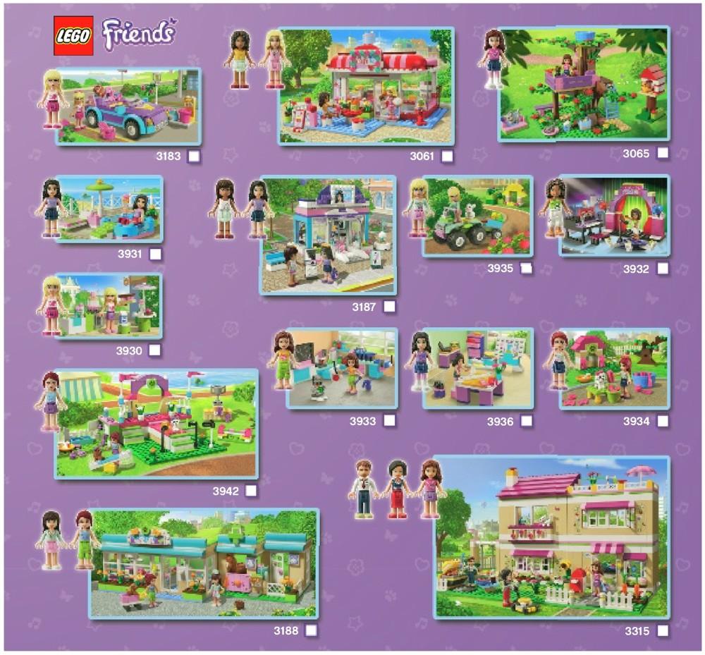 LEGO City Park Cafe Instructions 3061, Friends