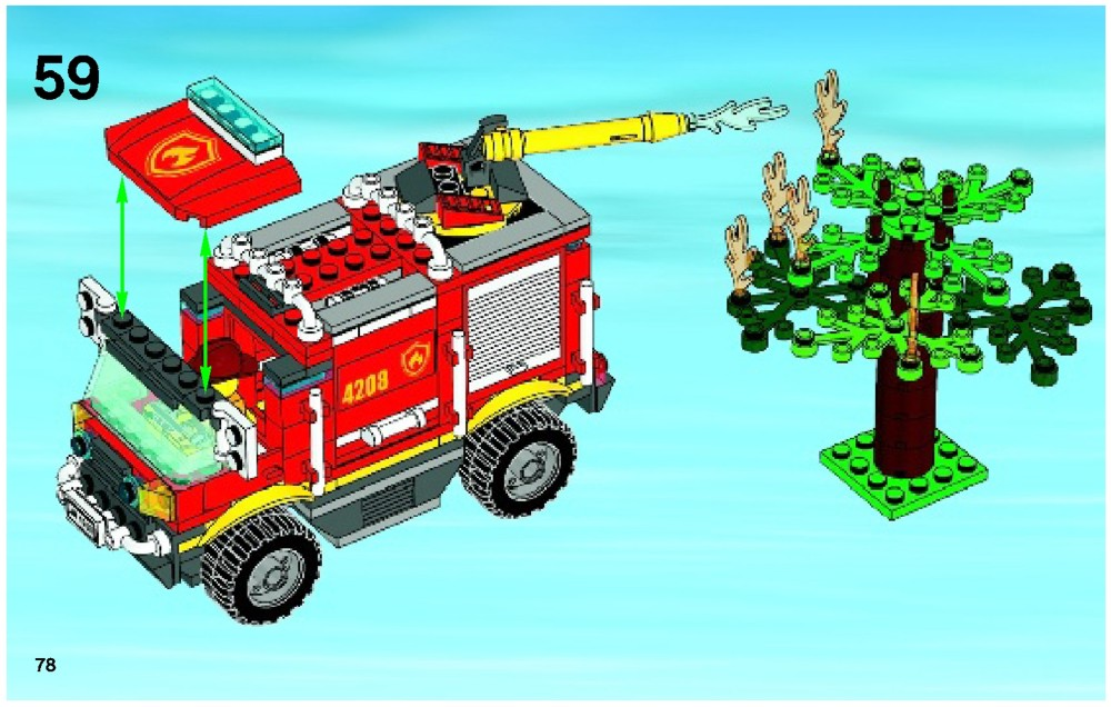 Lego Fire Truck Instructions Lego Off Road Fire Truck And Fireboat