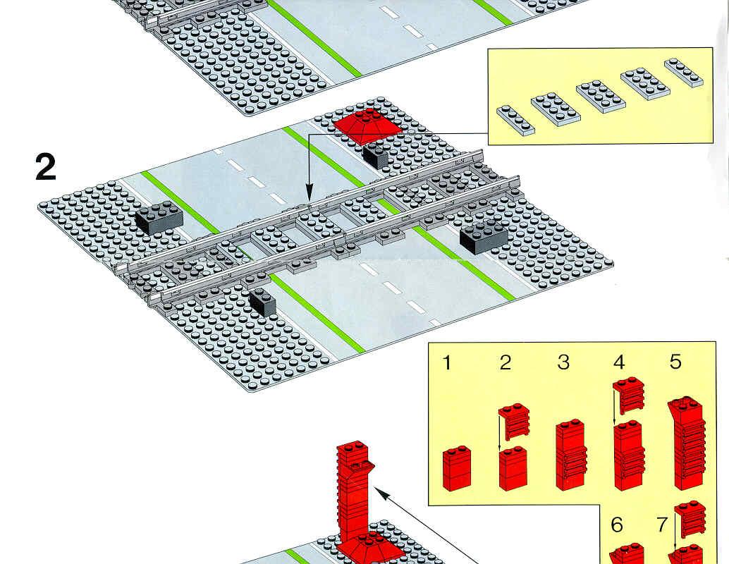 lego train crossing instructions