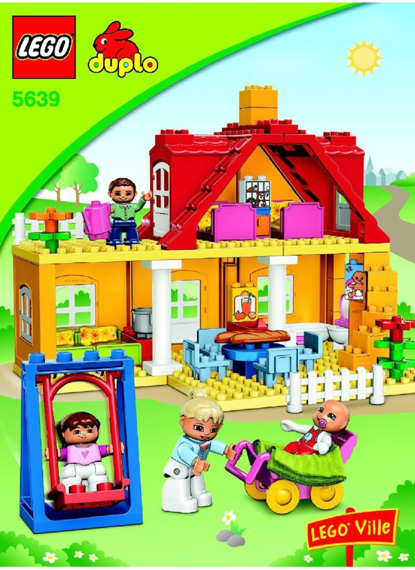 lego family house instructions 5639 duplo. Black Bedroom Furniture Sets. Home Design Ideas