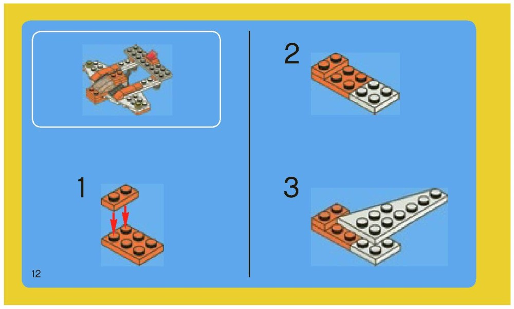 lego creator plane instructions