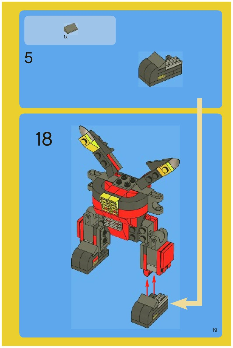 lego creator robot instructions