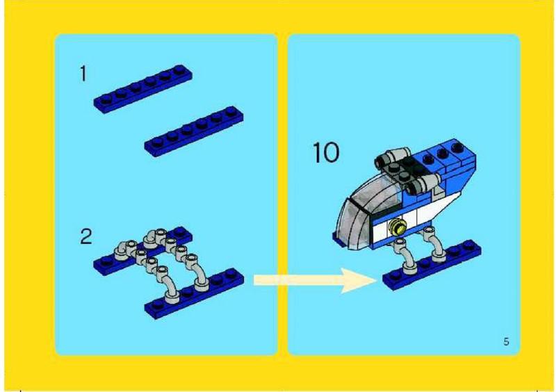 lego mini at at instructions