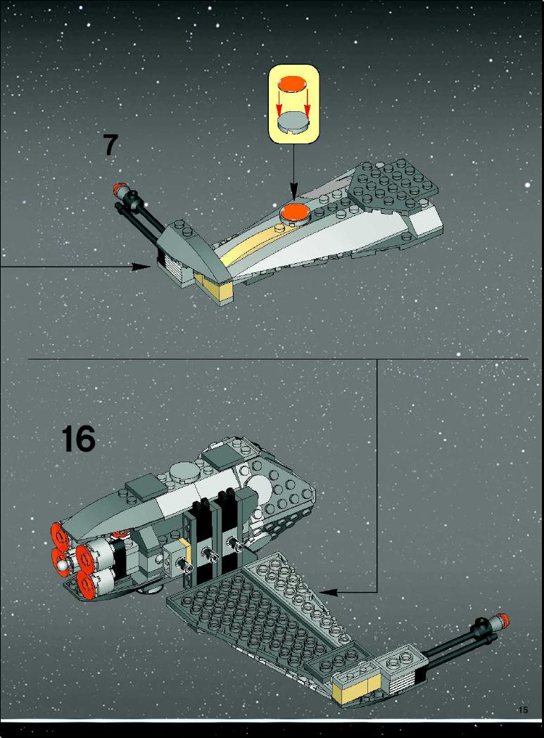 how to build a lego b wing