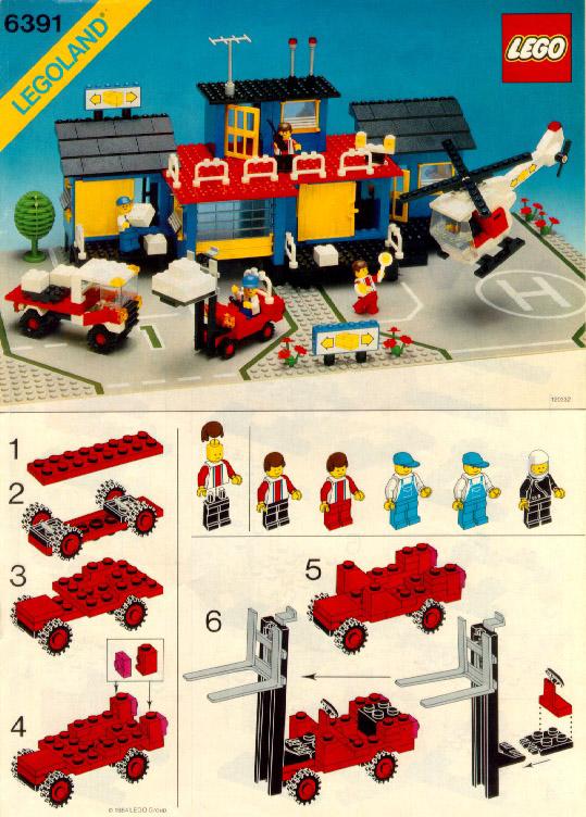 lego cargo center instructions 6391 city. Black Bedroom Furniture Sets. Home Design Ideas