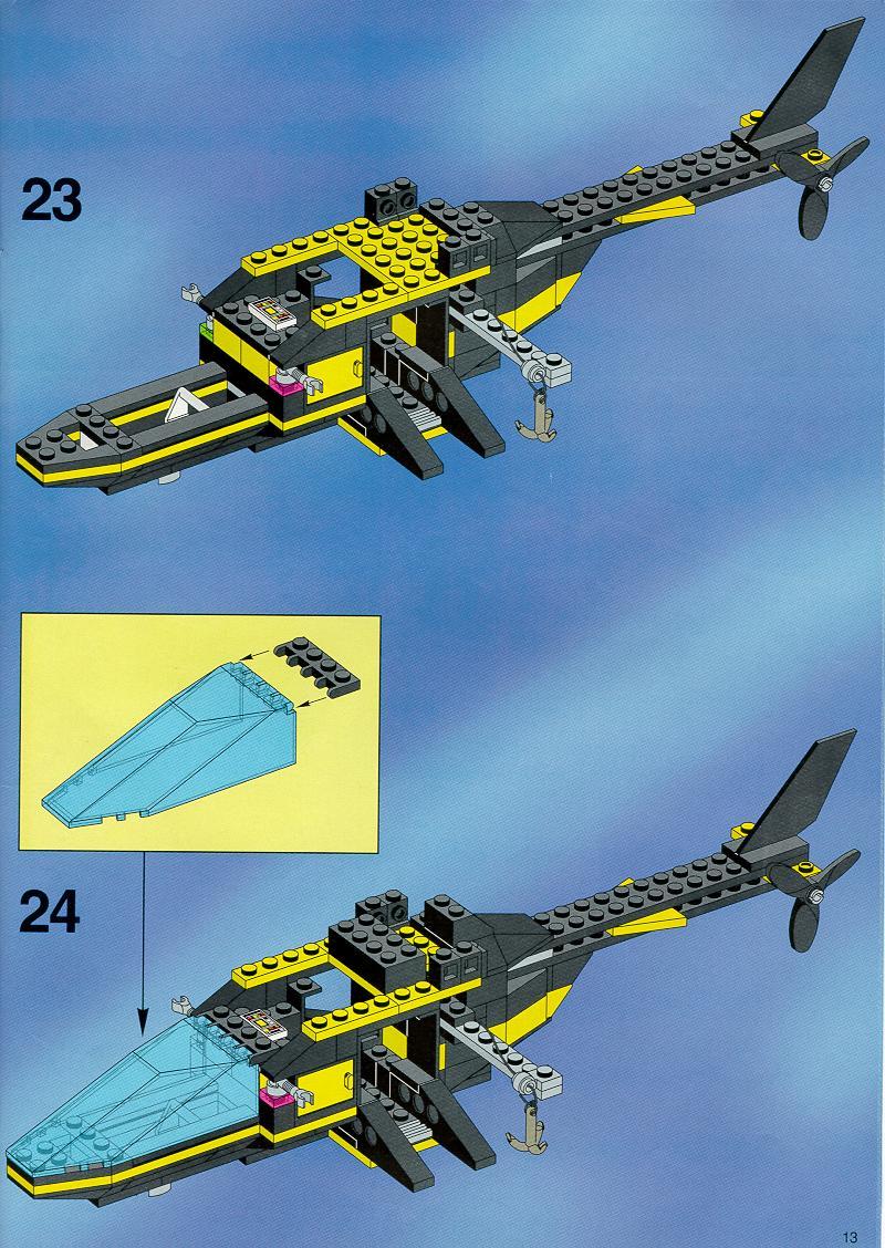 инструкция для лего вертолета