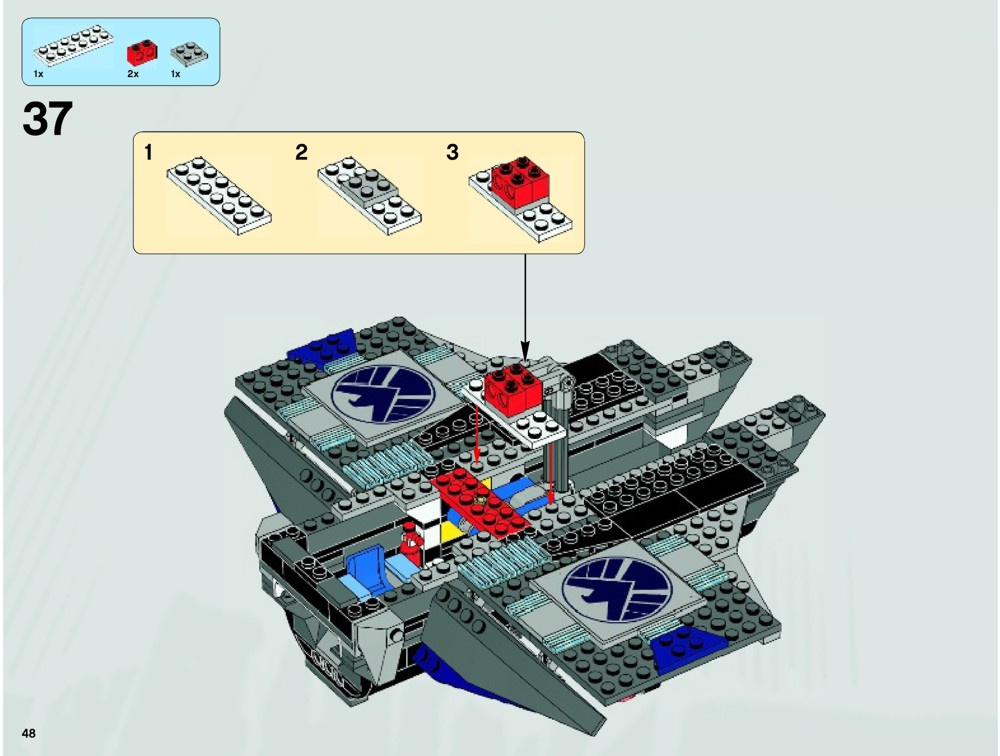 Instructions For LEGO Quinjet Aerial Battle. These are the instructions for building the LEGO Marvel Super Heroes Quinjet Aerial Battle that was released in