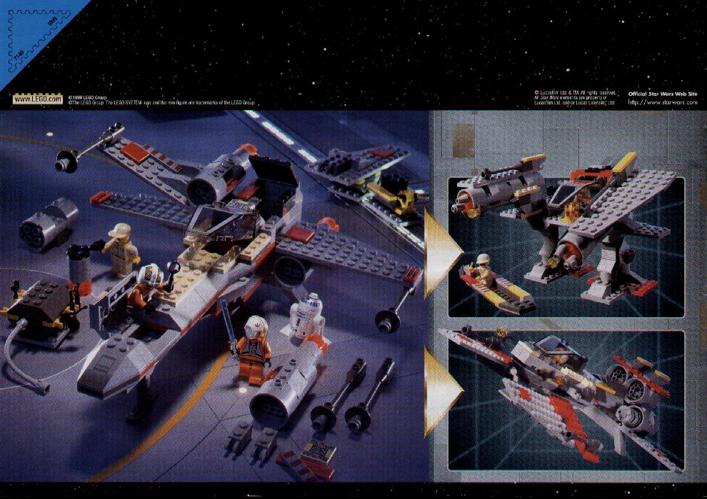 star wars x wing lego instructions