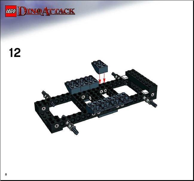 lego dino attack instructions