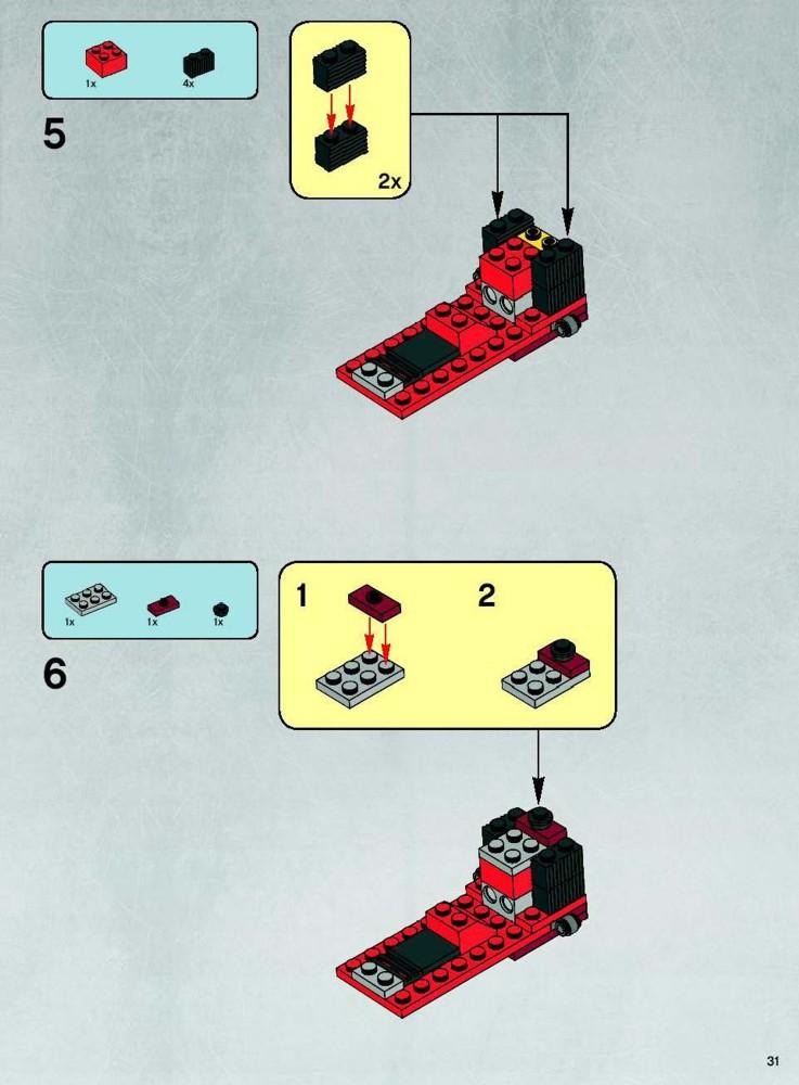 lego republic cruiser instructions