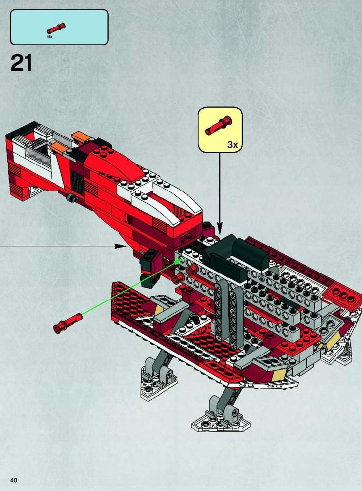 LEGO Republic Cruiser Instructions 7665, Star Wars