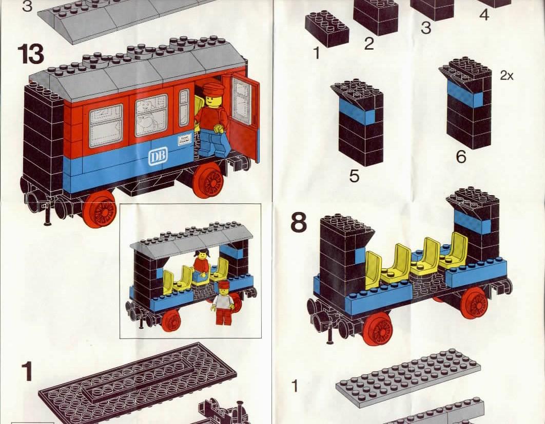 lego passenger wagon instructions 7818 trains. Black Bedroom Furniture Sets. Home Design Ideas