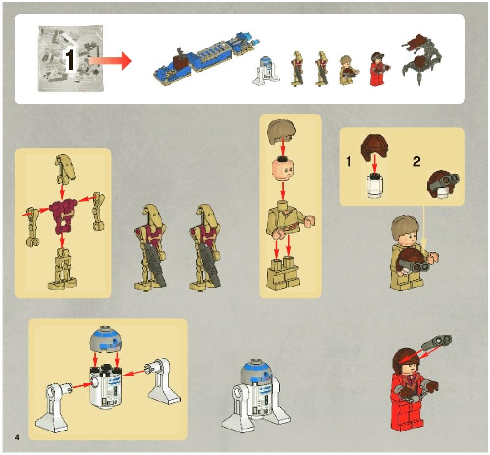 battle of naboo lego instructions