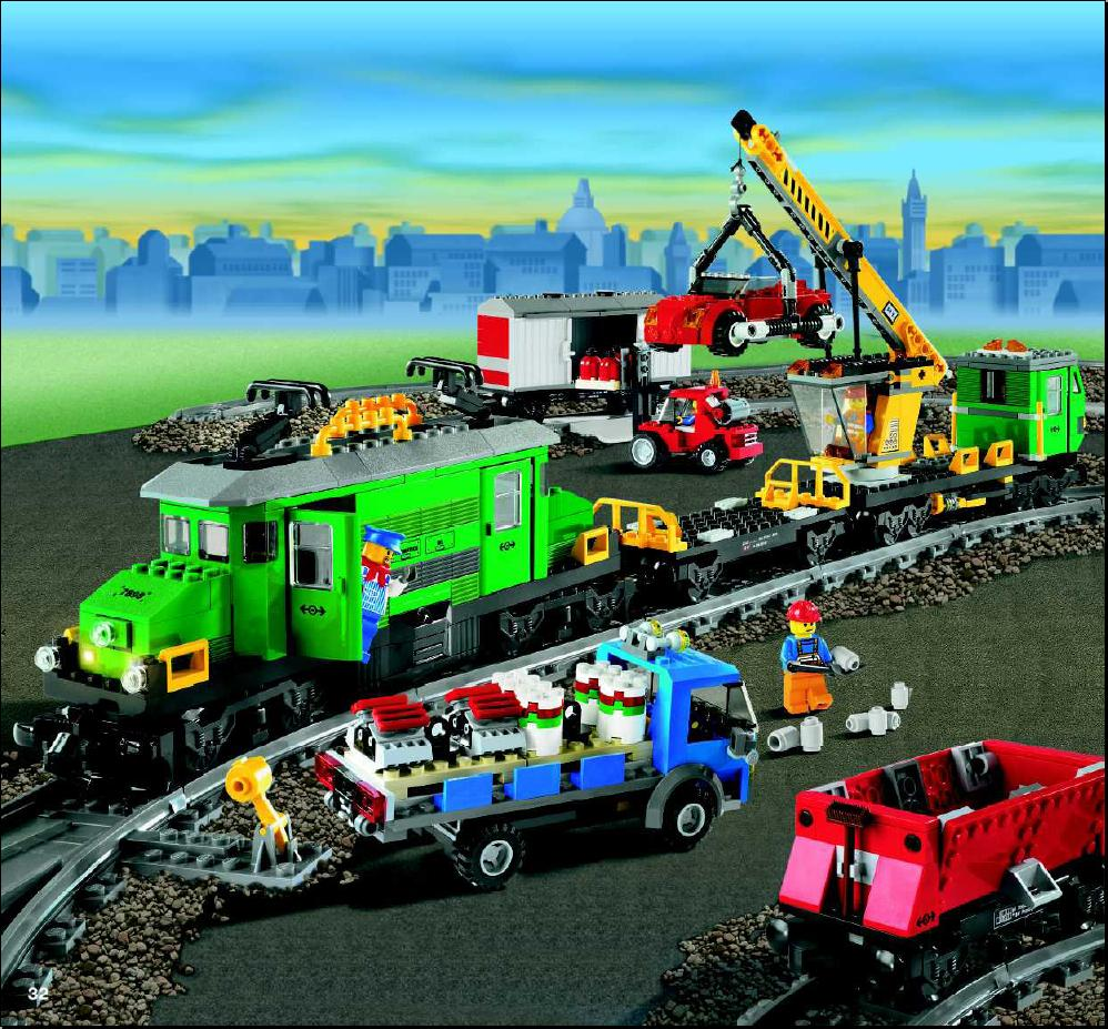 lego city train set instructions