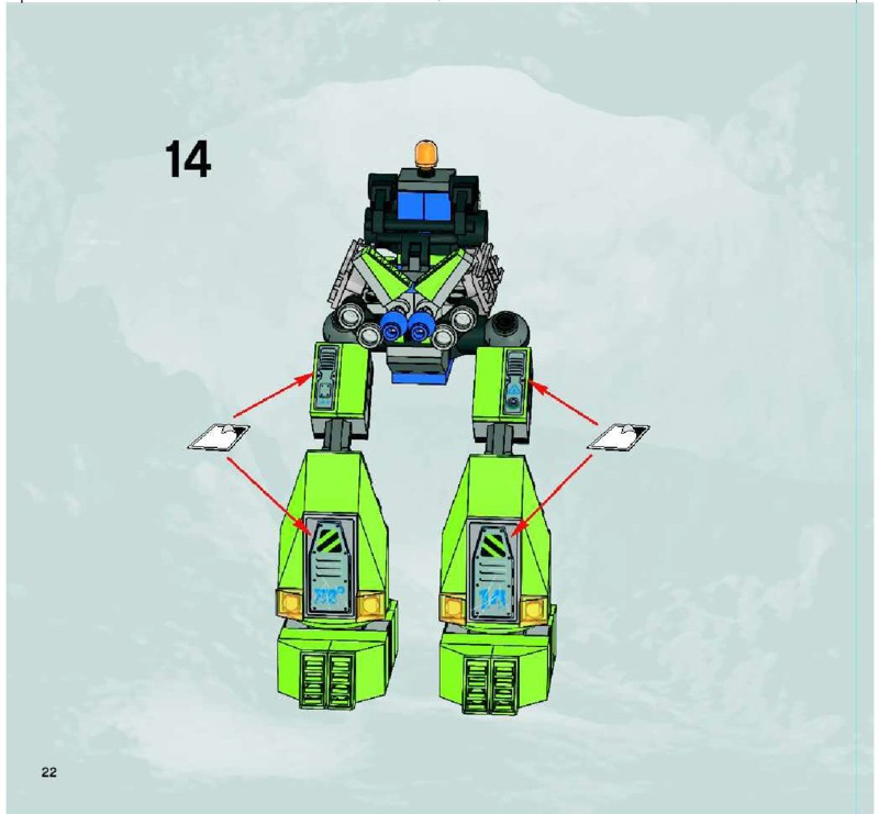 Lego power miners magma mech instructions