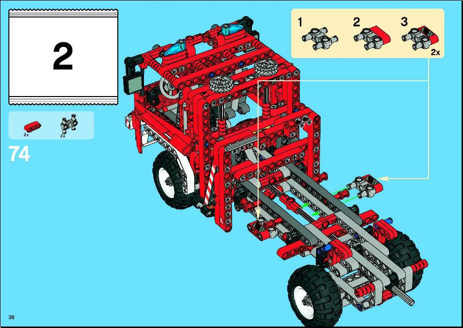 lego fire truck building instructions