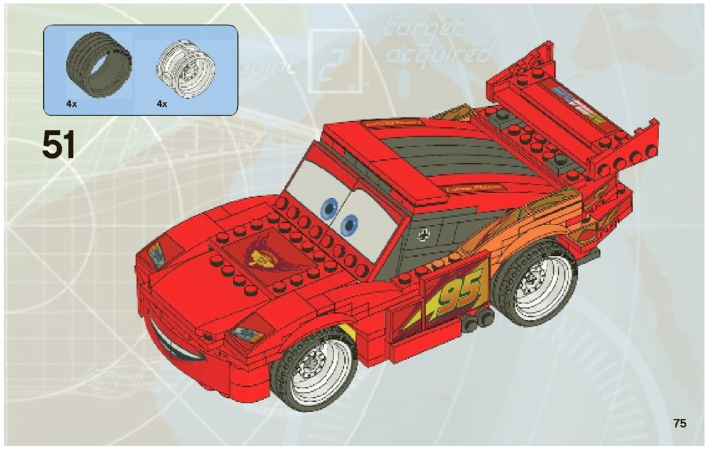 lego junior lightning mcqueen instructions