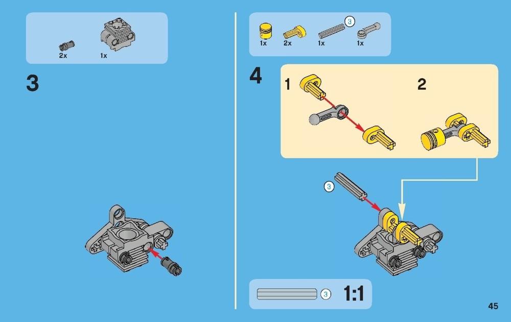 lego technic quad bike 9392 instructions