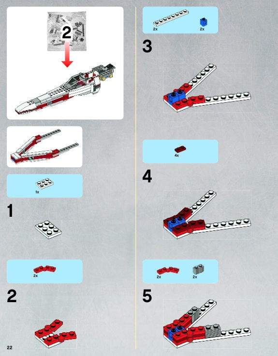 lego instructions x wing