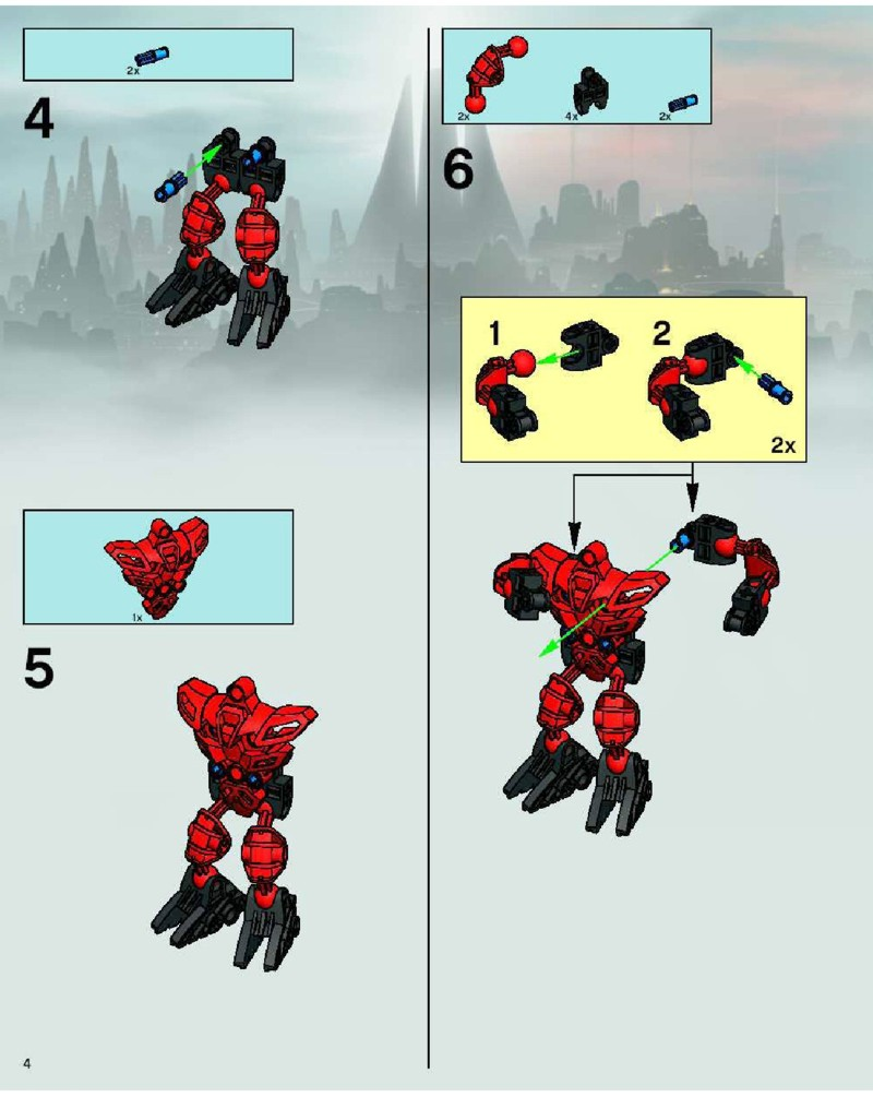 lego brick instructions bionicle